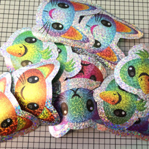 Perf cut holographic foil stickers