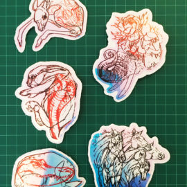 Mystic Hologram Vinyl Stickers