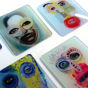 Textured Art Coasters