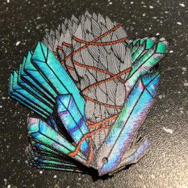 Laser Cut Printed Paper Earrings