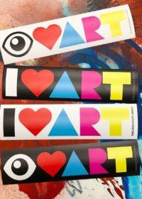 I LOVE ART UAS Bumper Stickers