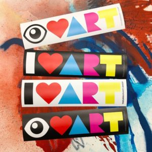 I LOVE ART UAS Bumper Stickers